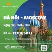 CÙNG VIETNAM AIRLINES BAY NGAY MOSCOW VỚI GIÁ VÉ CHỈ TỪ 1170USD++