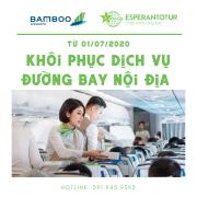 BAMBOO AIRWAYS SẼ KHÔI PHỤC LẠI TIÊU CHUẨN DỊCH VỤ TRÊN CÁC CHẶNG BAY QUỐC NỘI TỪ 01/07/2020