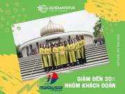MALAYSIA AIRLINES GIẢM ĐẾN 30 % CHO NHÓM KHÁCH ĐOÀN GV10
