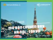 VIETNAM AIRLINES CHÍNH THỨC MỞ BÁN CÁC CHUYẾN BAY HÀ NỘI - TOKYO TRONG THÁNG 11/2020