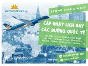 VIETNAM AIRLINES CẬP NHẬT LỊCH BAY CÁC ĐƯỜNG QUỐC TẾ TRONG THÁNG 4