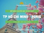 VNA MỞ BÁN CHUYẾN BAY TP. HỒ CHÍ MINH - PARIS 27/01/2021