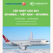 CẬP NHẬT LỊCH BAY ISTANBUL – VIỆT NAM – ISTANBUL