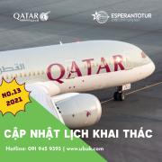 QATAR AIRWAYS CẬP NHẬT LỊCH KHAI THÁC NO.13/2021