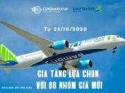 GIA TĂNG THÊM NHIỀU LỰA CHỌN VỚI 08 NHÓM GIÁ MỚI CỦA BAMBOO AIRWAYS