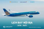 VIETNAM AIRLINES TRIỂN KHAI LỊCH BAY NỘI ĐỊA TỪ 21/10 - 30/11