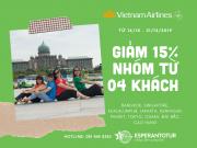 VIETNAM AIRLINES  GIẢM 15% CHO NHÓM TỪ 4 NGƯỜI