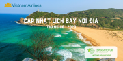 VIETNAM AIRLINES CẬP NHẬT LỊCH BAY NỘI ĐỊA TRONG THÁNG 06/2020