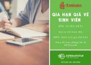 EMIRATES GIA HẠN GIÁ VÉ SINH VIÊN (STUDENT FARES) ĐẾN 31/03/2021