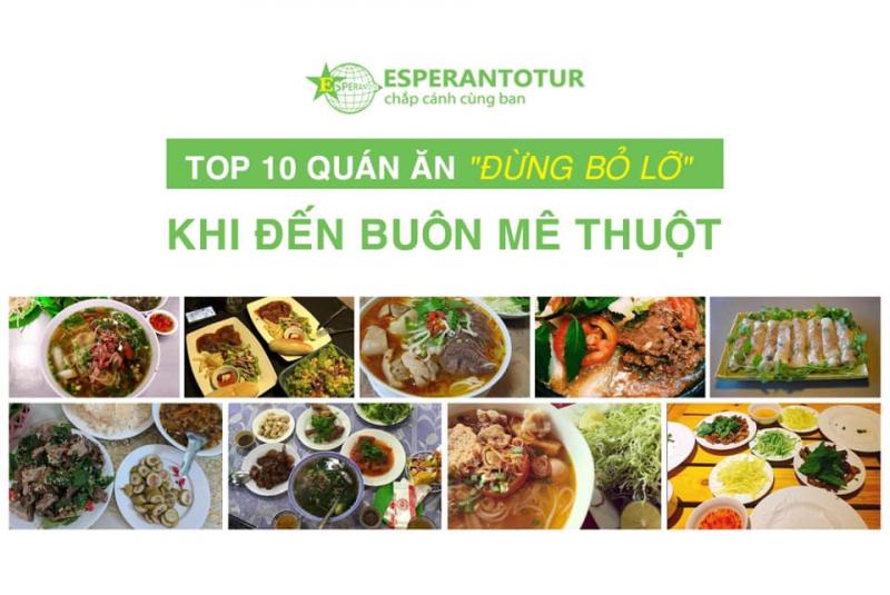 TOP 10 MÓN NGON NHẤT BAN MÊ THUỘT
