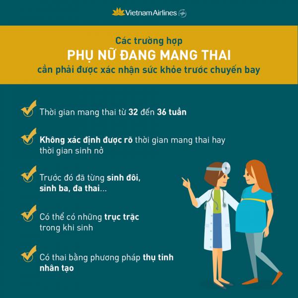 Những lưu ý cho phụ nữ mang thai trước chuyến bay.