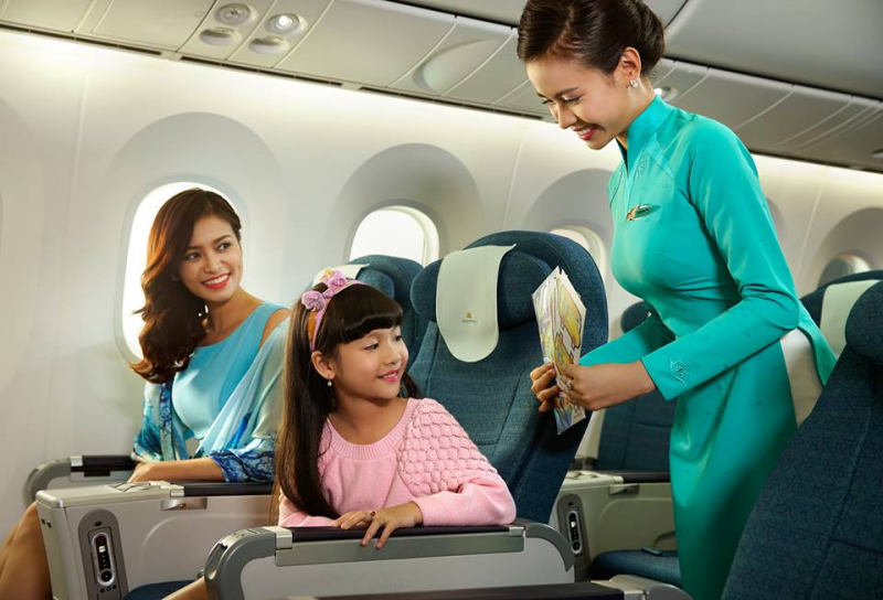 Vietnam Airlines điều chỉnh giá vé trẻ em