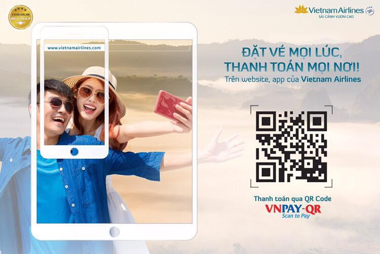 Vietnam Airlinesáp dụng phương thức thanh toán bằng QR code