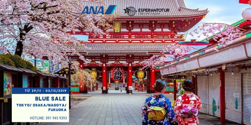 ALL NIPPON AIRWAYS MỞ BÁN HELLO BLUE SALE  TRONG 05 NGÀY
