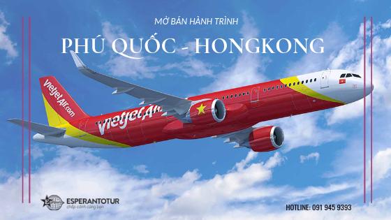 VIETJET AIR MỞ BÁN HÀNH TRÌNH PHÚ QUỐC - HONGKONG