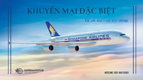 KHUYẾN MẠI ĐẶC BIỆT TỪ SINGAPORE AIRLINES