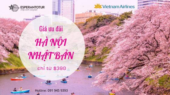 TỚI NHẬT BẢN NGẮM HOA ANH ĐÀO CÙNG VIETNAM AIRLINES