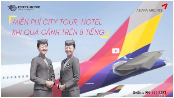 MIỄN PHÍ DỊCH VỤ CITY TOUR, HOTEL KHI QUÁ CẢNH TRÊN 8 TIẾNG TẠI SÂN BAY INCHEON