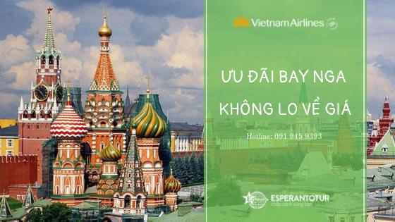 KHUYẾN MẠI BAY TỚI NƯỚC NGA CÙNG VIETNAM AIRLINES