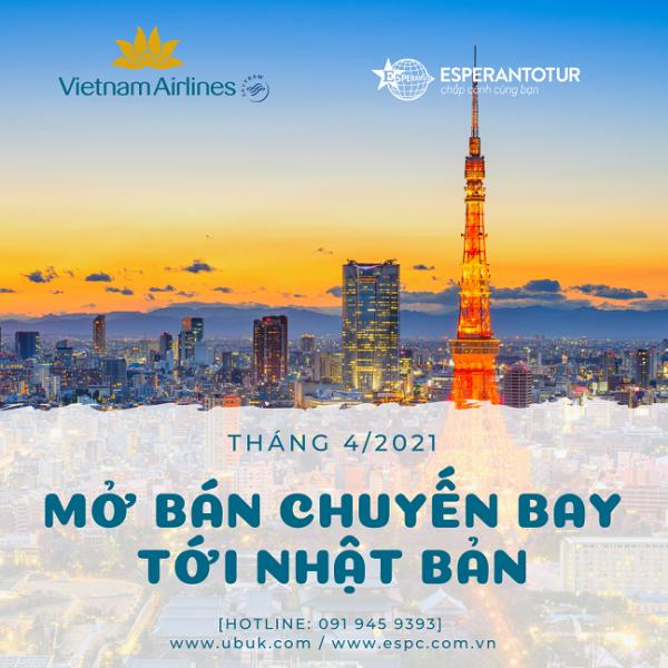 VIETNAM AIRLINES MỞ BÁN CHUYẾN BAY TỚI NHẬT BẢN TRONG THÁNG 4/2021