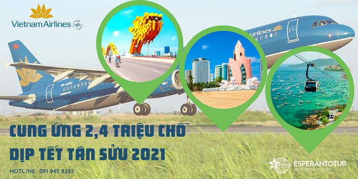 VIETNAM AIRLINES GROUP CUNG ỨNG 2,4 TRIỆU CHỖ TRONG DỊP TẾT TÂN SỬU 2021