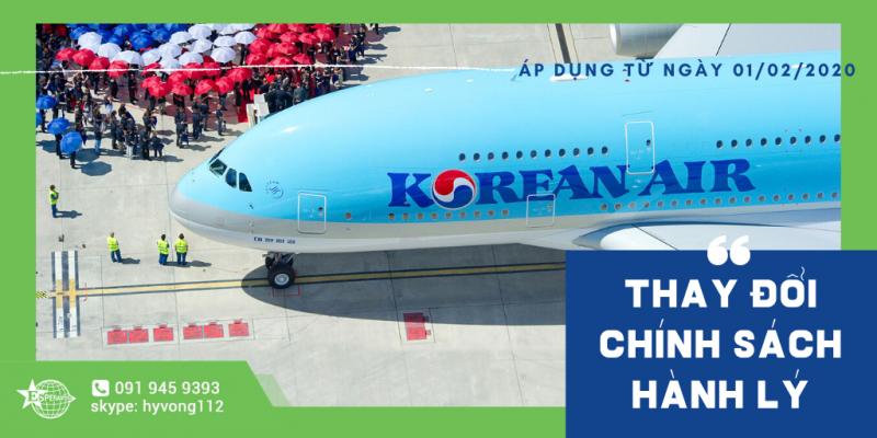 KOREAN AIR THAY ĐỔI CHÍNH SÁCH HÀNH LÝ XÁCH TAY