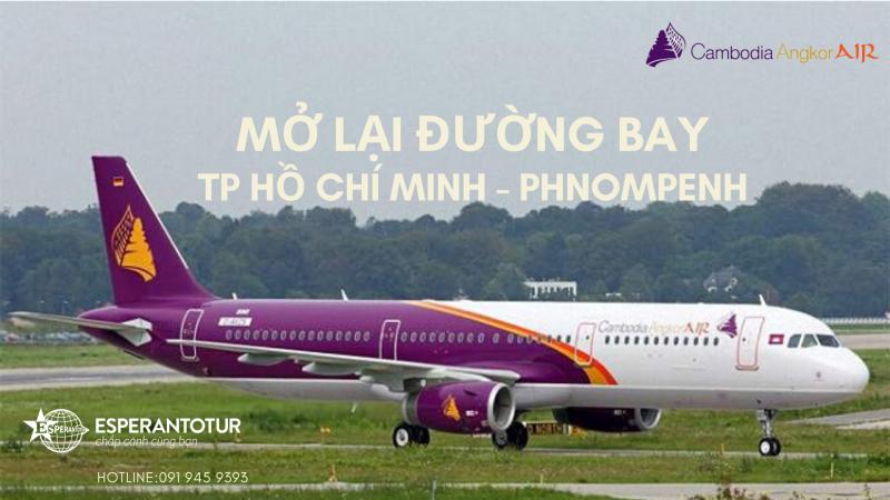 CAMBODIA ANGKOR AIR MỞ LẠI ĐƯỜNG BAY TP. HỒ CHÍ MINH – PHNOMPENH TỪ 02/07/2020