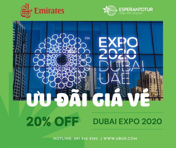 EMIRATES ƯU ĐÃI 20% GIÁ VÉ - HƯỚNG TỚI SỰ KIÊN DUBAI EXPO 2020