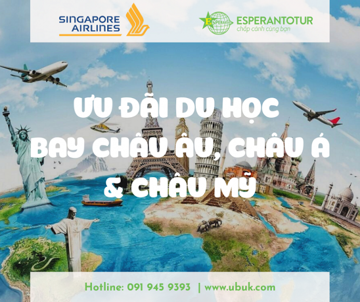 ƯU ĐÃI DU HỌC – BAY NGAY CÙNG SINGAPORE AIRLINES