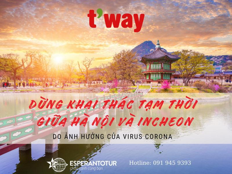 T'WAY AIR TẠM DỪNG KHAI THÁC BAY GIỮA VIỆT NAM VÀ HÀN QUỐC