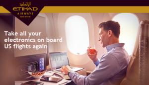 Các hãng hàng không Trung Đông cho phép mang các thiết bị điện tử trên các chuyến bay đến Mỹ
