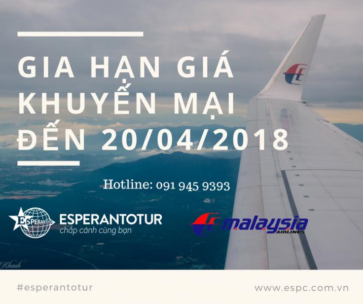 MALAYSIA AIRLINES GIA HẠN GIÁ KHUYẾN MẠI CHÀO HÈ