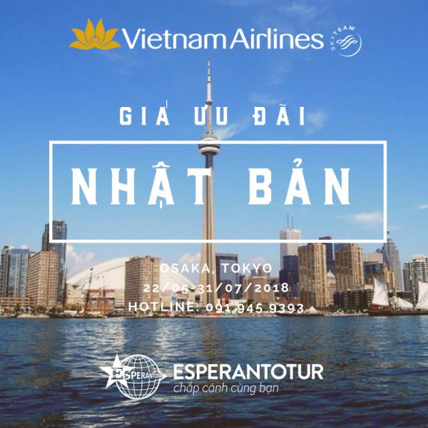 VIETNAM AIRLINES TUNG GIÁ ƯU ĐÃI ĐẾN NHẬT BẢN