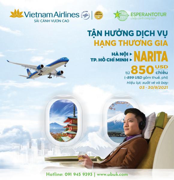 TẬN HƯỞNG DỊCH VỤ THƯƠNG GIA TRÊN CHUYẾN BAY TỚI NHẬT BẢN CỦA VIETNAM AIRLINES TRONG THÁNG 9/2021