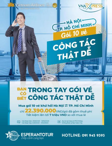 TRONG TAY GÓI VÉ - CÔNG TÁC THẬT DỄ CÙNG VIETNAM AIRLINES