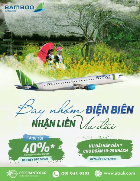 BAMBOO AIRWAYS TRIỂN KHAI CHƯƠNG TRÌNH BÁN ĐƯỜNG BAY MỚI HÀ NỘI – ĐIỆN BIÊN