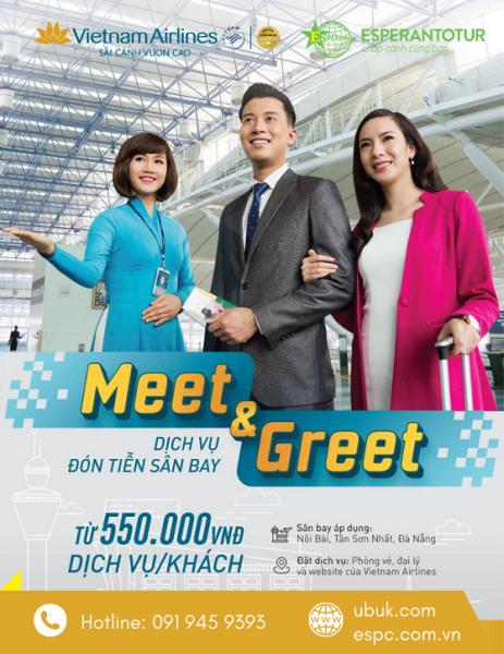 VIETNAM AIRLINES TRIỂN KHAI DỊCH VỤ ĐÓN TIỄN SÂN BAY CHỈ TỪ 550.000 VNĐ