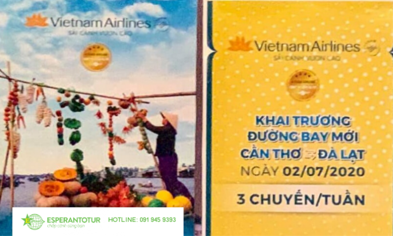 ESPERANTOTUR THAM DỰ LỄ KHAI TRƯƠNG ĐƯỜNG BAY MỚI CẦN THƠ - ĐÀ LẠT CỦA VIETNAM AIRLINES