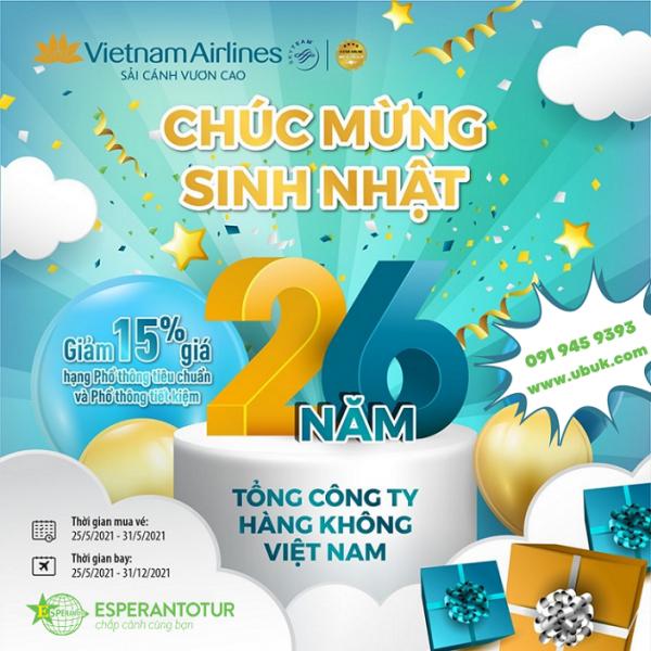 VIETNAM AIRLINES ĐÓN MỪNG SINH NHẬT, TƯNG BỪNG ƯU ĐÃI