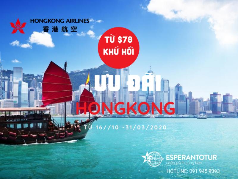 BAY HONGKONG CHỈ TỪ $78 CHO HÀNH TRÌNH KHỨ HỒI
