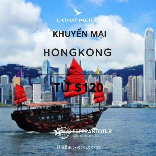 KHUYẾN MẠI CỦA CATHAY PACIFIC ĐẾN HONGKONG