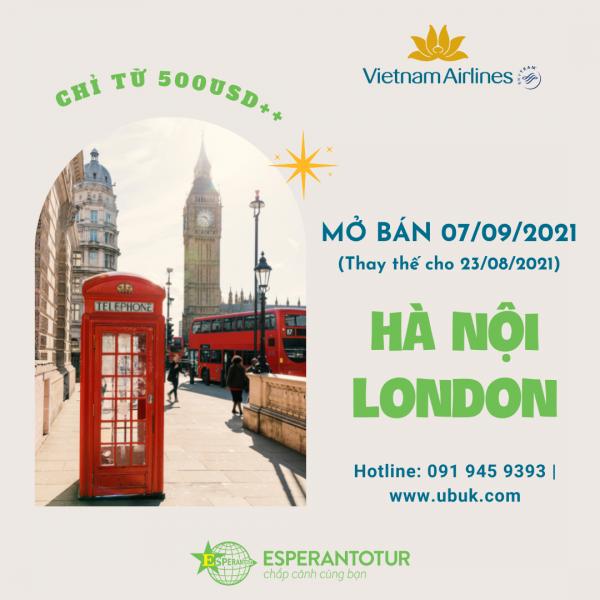 BAY NGAY LONDON CHỈ TỪ 500USSD++ CÙNG VIETNAM AIRLINES NGÀY 07/09/2021 (Thay thế cho ngày 23/08/2021)