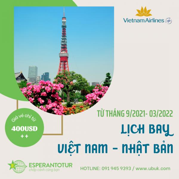 VIETNAM AIRLINES THÔNG BÁO LỊCH KHAI THÁC HÀ NỘI/TP HỒ CHÍ MINH – TOKYO
