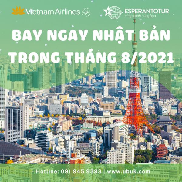 BAY NGAY NHẬT BẢN TRONG THÁNG 8 CÙNG VIETNAM AIRLINES