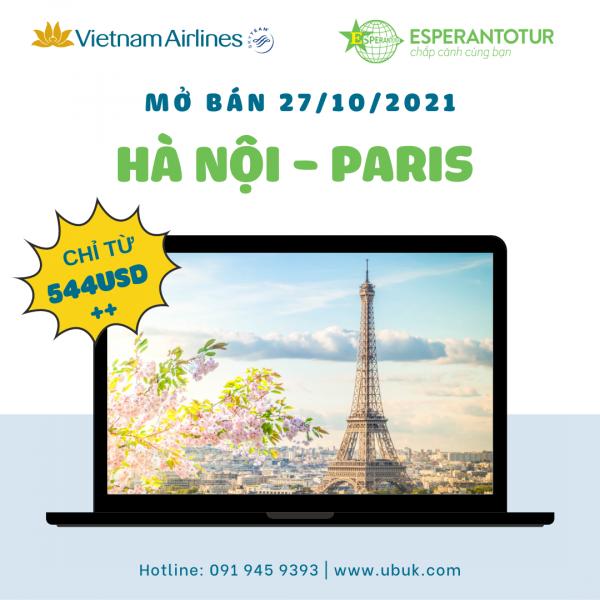 CHỈ TỪ 544USD BAY NGAY PARIS CÙNG VIETNAM AIRLINES