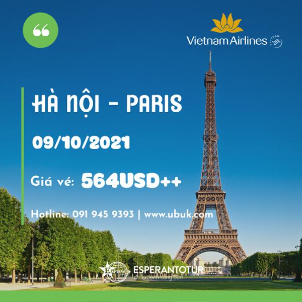 VIETNAM AIRLINES MỞ BÁN CHUYẾN BAY TỚI PARIS HOA LỆ NGÀY 09/10/2021 - CHỈ TỪ 564USD
