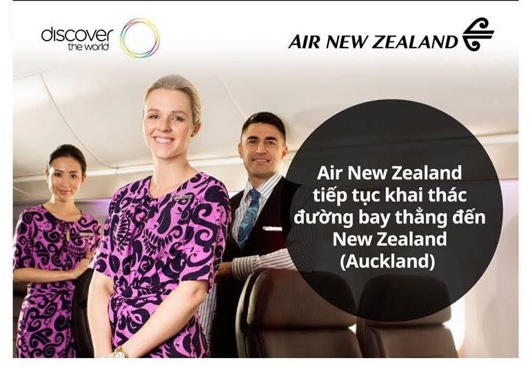 AIR NEWZEALAND KHAI THÁC ĐƯỜNG BAY THẲNG ĐẾN AUCKLAND