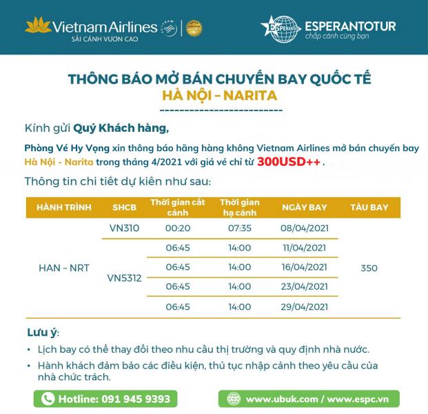 BAY NGAY NHẬT BẢN CHỈ TỪ 300USD++ CÙNG VIETNAM AIRLINES