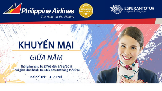 KHUYẾN MẠI GIỮA NĂM CỦA PHILIPPINES AIRLINES