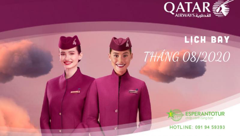 QATAR AIRWAYS THÔNG BÁO LỊCH BAY THÁNG 8/2020